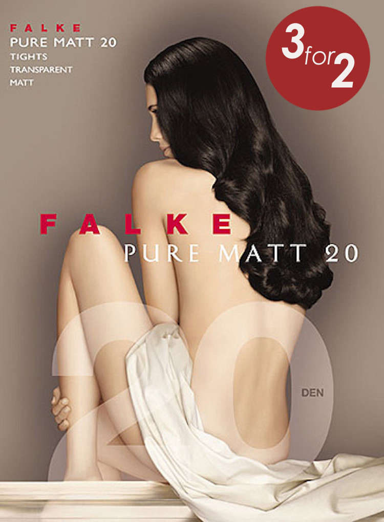 Falke Pure Matt 20 Tights 3 pairs for the price of 2