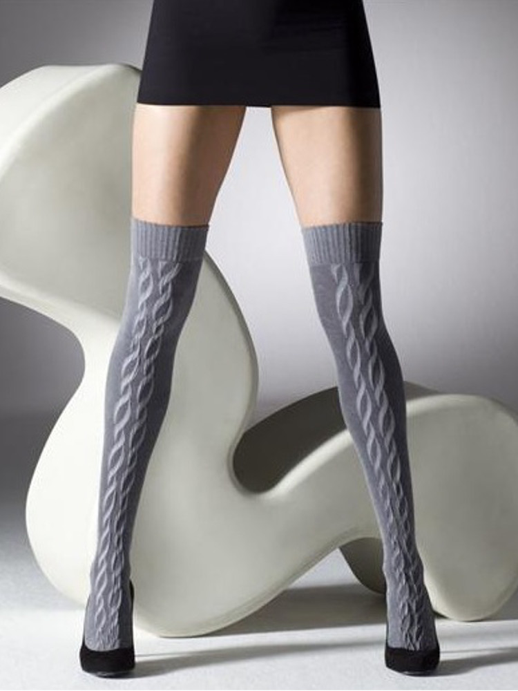 Gipsy Over The Knee Front Cable Socks