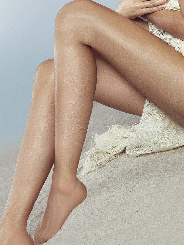 Natural Luxury Sheer Glossy Tights With Lycra One Size