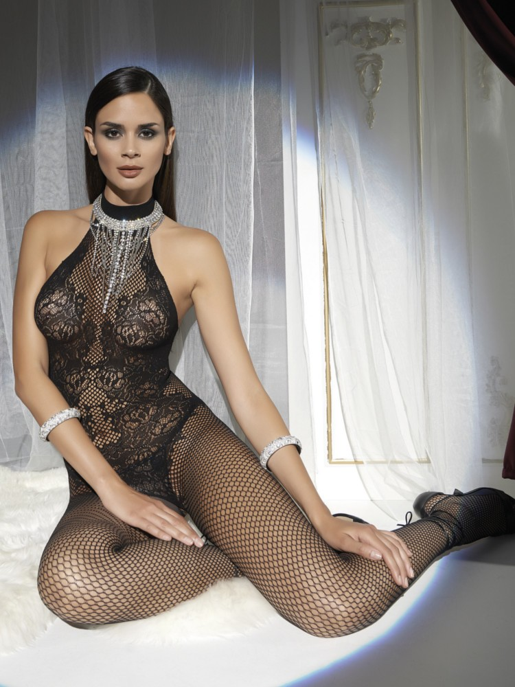 Trasparenze Doina Net and Lace Bodystocking