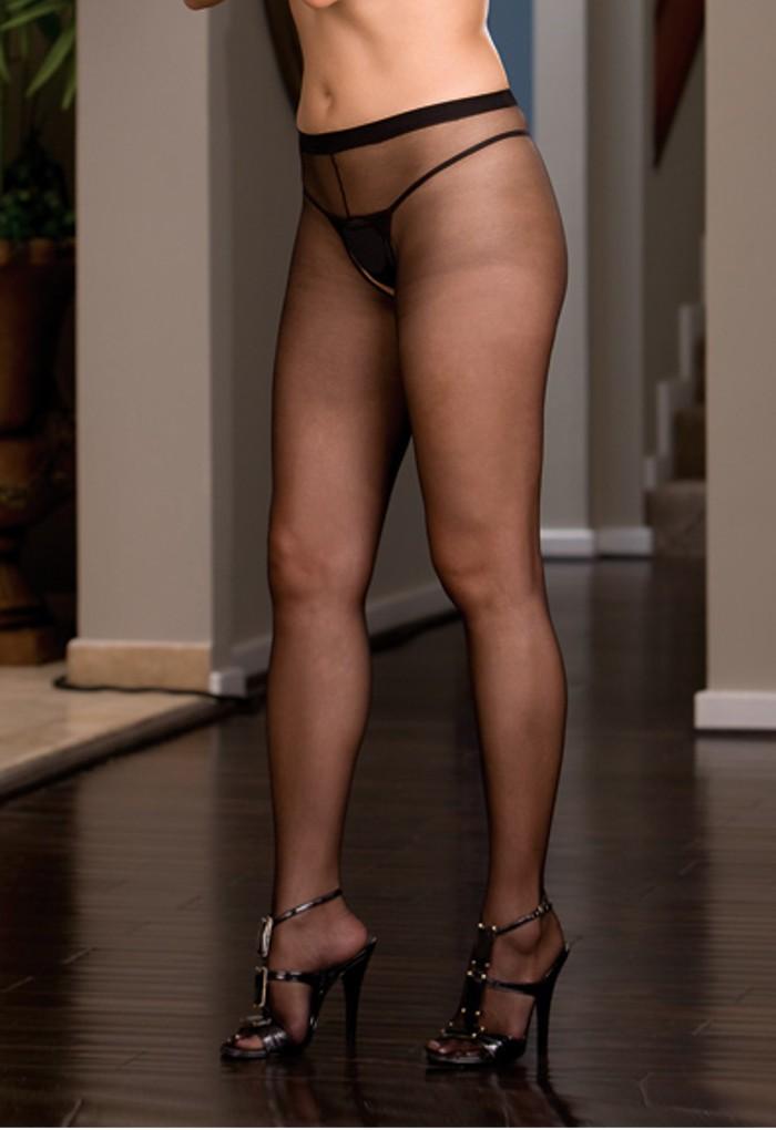 Crotchless pantyhose photos