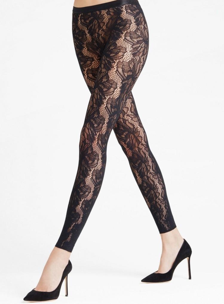 Falke Flower Patterned Lace Leggings