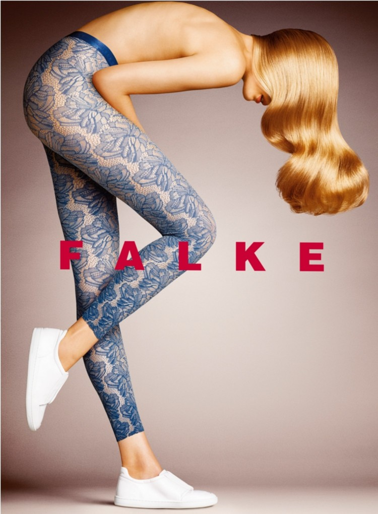 Falke Tights Footless Floral Patterned