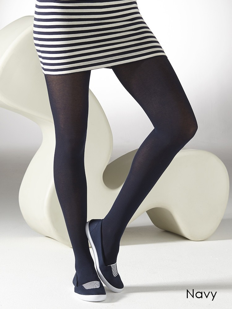 These black opaque tights dazzle with silver glittery accents. Nylon/spandex Hand wash, drip dry Made in USA It's time to shine. These black opaque tights dazzle with silver glittery accents.