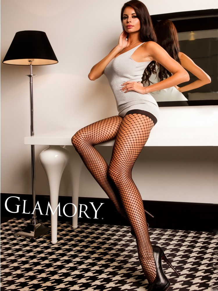 65a12a297d956 ... Glamory Plus Size Fishnet Tights ...