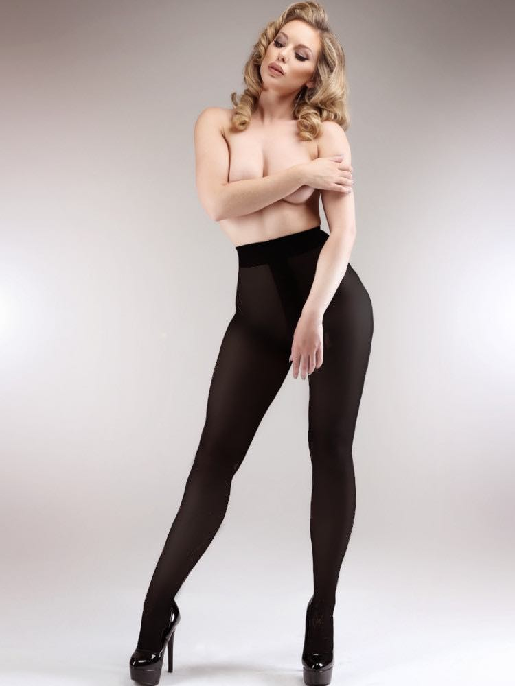 Crotchless pantyhose tights-5793