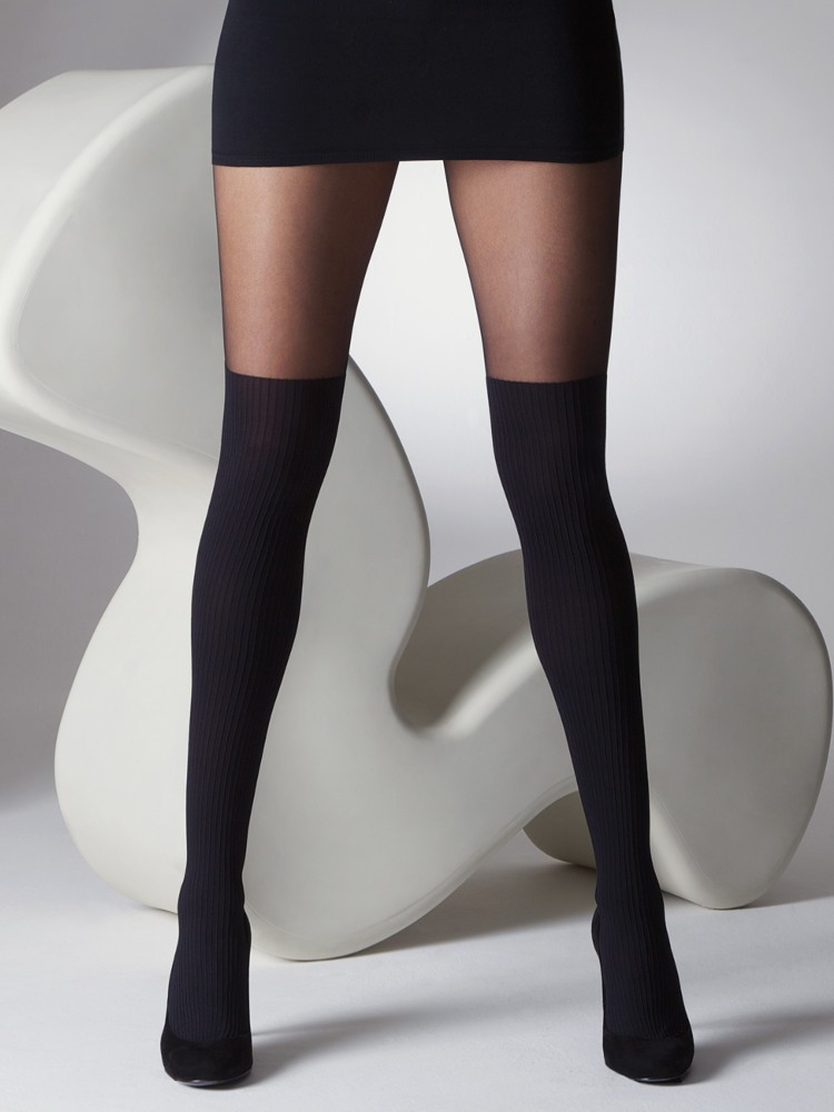 61770fc768a67 Gipsy Mock Ribbed Over the Knee Tights | The Tight Spot