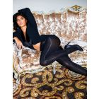 opaque crotchless tights 100 denier Miss Crotchless in plus size