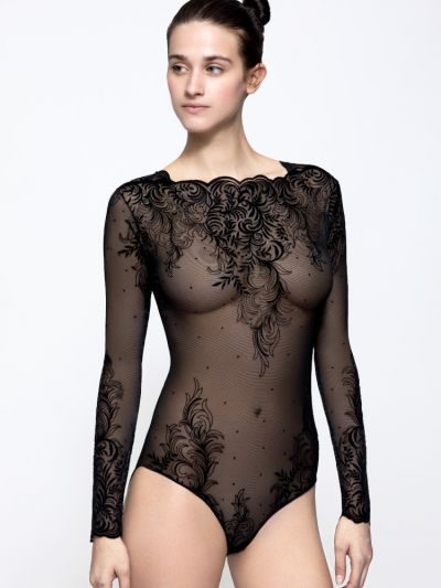 Pierre Mantoux Tatuage Sheer Bodysuit
