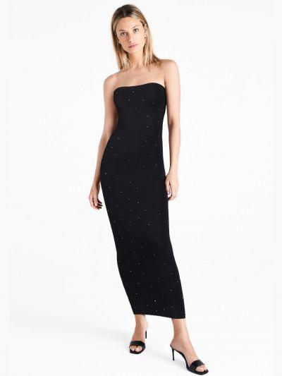 Wolford hosiery full length black sparkled black sleeveless dress