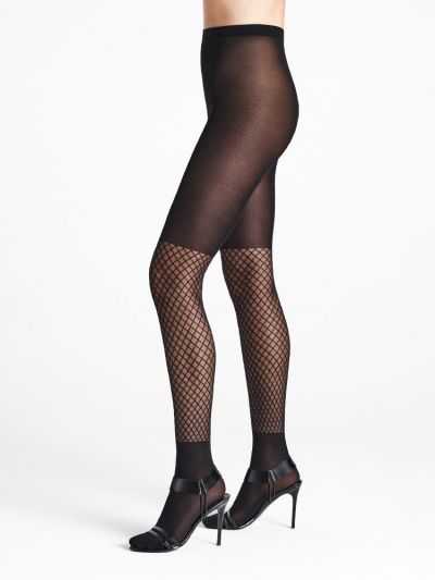 Fishnet on the calf black wolford tights