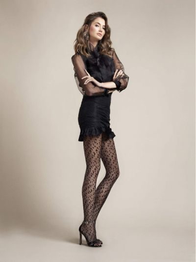 Fiore Claudia Leopard Patterned Tights