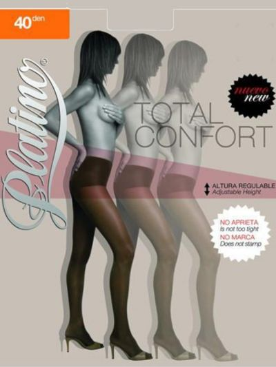 Platino 40 Total Confort Shiny Tights