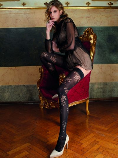 Trasparenze Rose Opaque Patterned Hold Ups