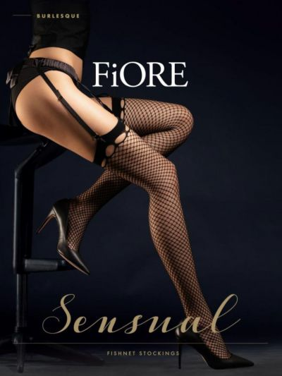 Fiore Burlesque Fishnet Stockings