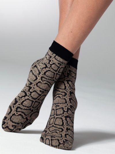 Gipsy Snake Patterned Ankle High Socks