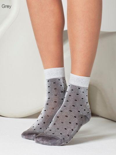 Gipsy Lurex Spot Ankle Socks