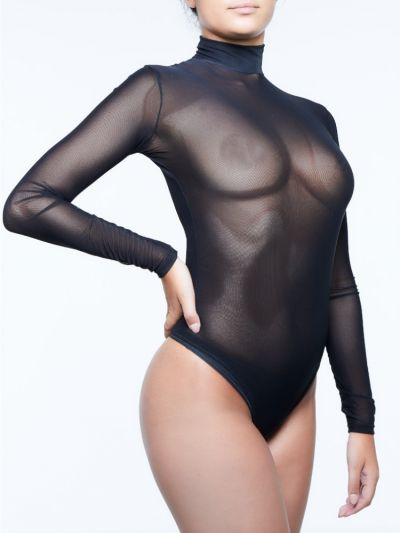Miss Naughty Mesh Sheer Bodysuit