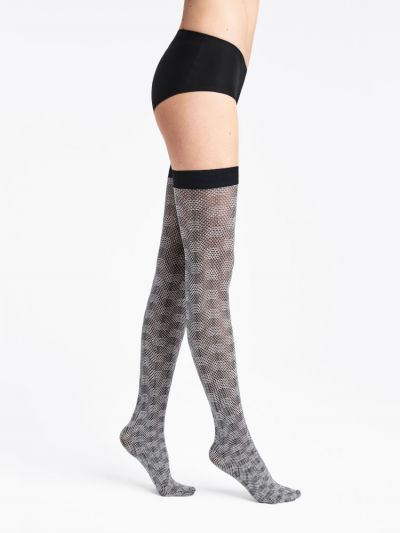 Wolford hosiery checkered patterned hold ups