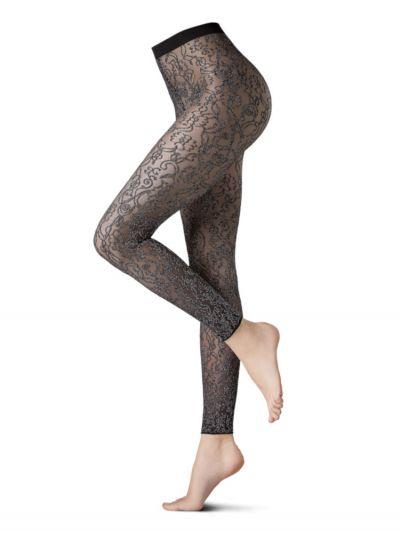 Oroblu Glitter Ramage Lace Leggings