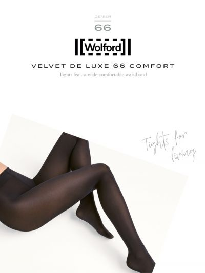 Black opaque comfort wolford tights packaging