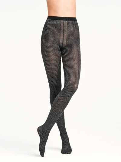 Glitter ribbed design Wolford pantyhose