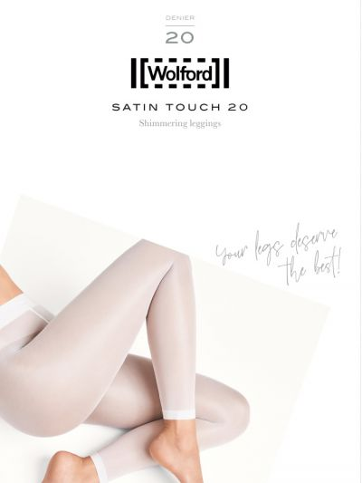 Wolford hosiery satin touch footless leggings packaging