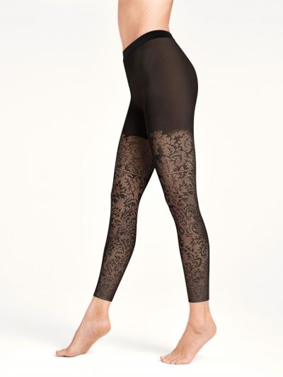 Wolford tights baroque patterned footless leggings