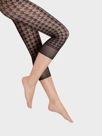 Black capri fishnet footless wolford pantyhose