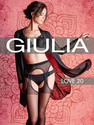 Packaging of open gusset pantyhose in black