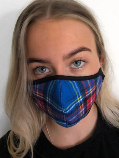 Slanj Blue Stewart Tartan Face Mask