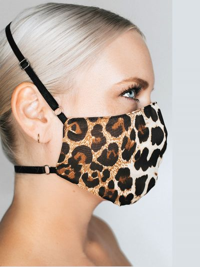 Kitty May Luxury Leopard Print Face Mask