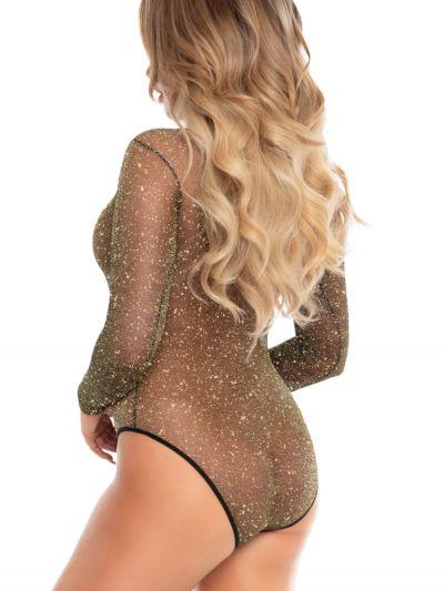 Leg Avenue Lurex Shimmer Bodysuit