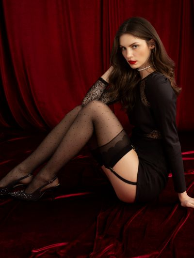 Fiore Marion Dot Stockings
