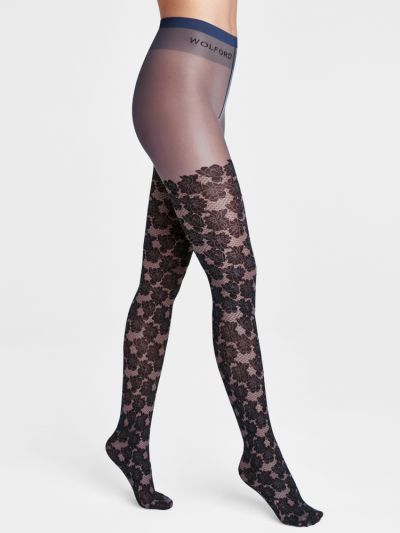 Wolford Dakota Floral Lace Tights