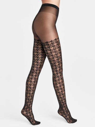 Wolford Logo Passion Houndstooth Tights