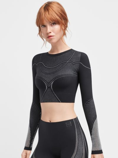 Wolford Long Sleeve Zen Crop Top