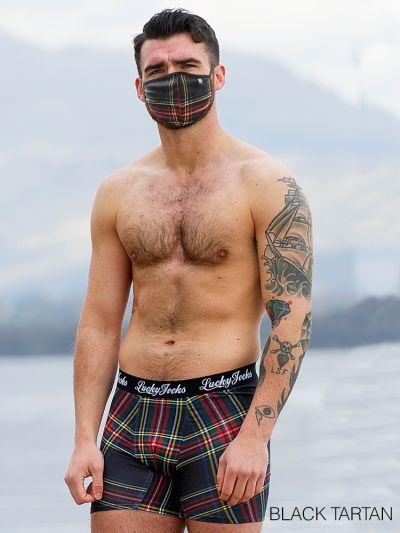 Tartan Boxer & Mask Set