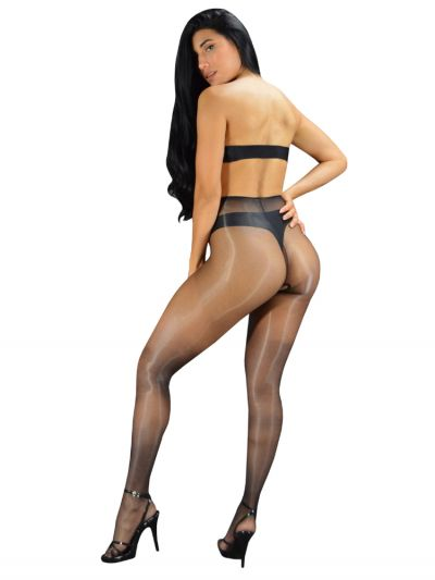 Pearl And Poseidon Vespa Crotchless Ultra Shine Tights