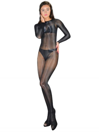 Pearl And Poseidon Miranda Wet Look Crotchless Bodystocking