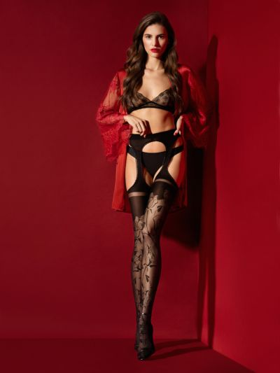 Fiore Amorosa 30 Denier Suspender Tights