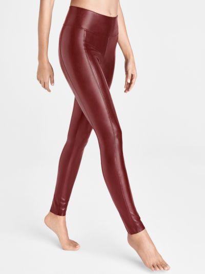 Wolford Edie Forming Vegan Leather Leggings