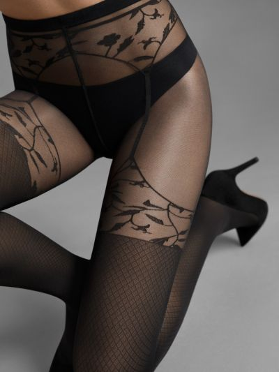 Wolford Flora Mock Suspender Tights