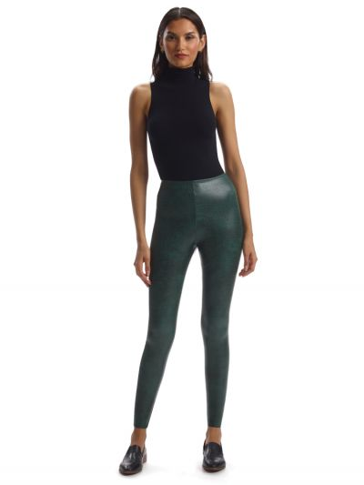 Commando Faux Leather Animal Control Leggings
