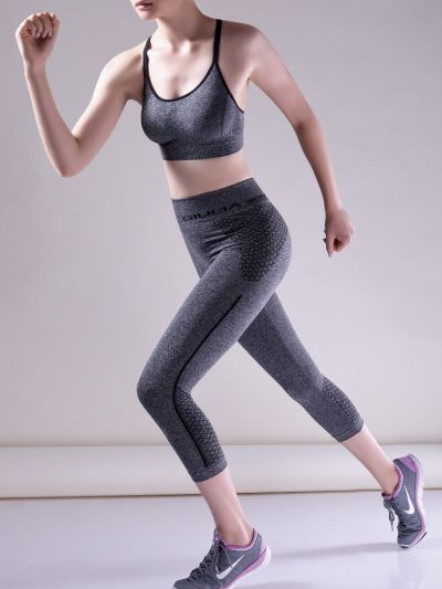 Giulia Capri Seamless Contour Patterned Leggings