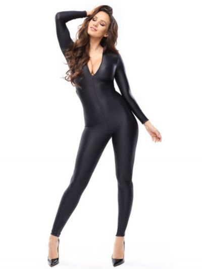 Miss O Zipper Crotchless Bodystocking