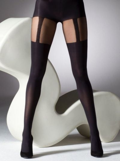 Gipsy Plus Size Mock Suspender Tights