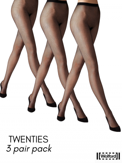 Wolford Twenties Fishnet Tights 3 For 2