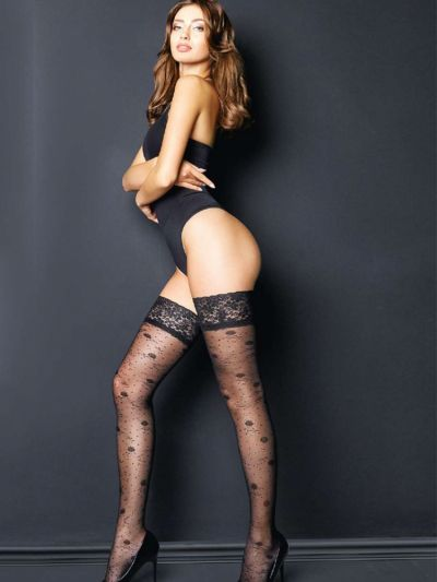 Giulia Flore Rose Patterned Hold Ups