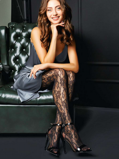 Giulia Versale Lace Patterned Tights